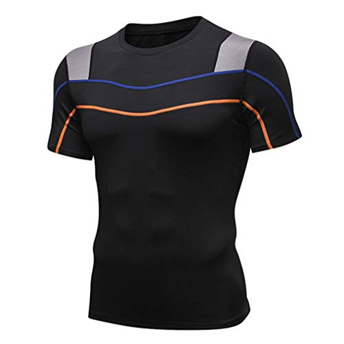 Quick Dry Lauf-T-Shirt Männer Mesh-Patchwork Compression...