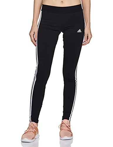 adidas Womens Essentials Legging Tights, Black/White, S