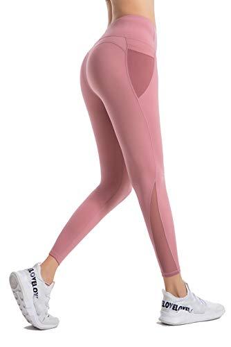 PIZOFF Damen Sport Legging Hose mit Taschen Blickdicht Gym...