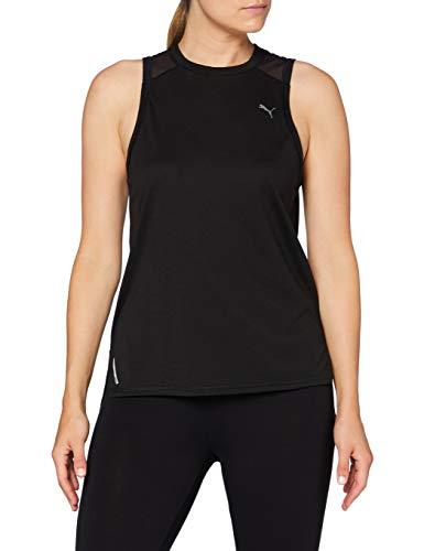 PUMA Damen Train Mesh Panel Tank T-Shirt, Black, XL