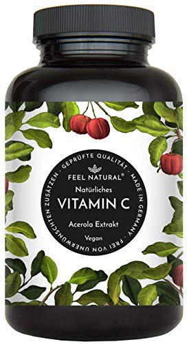 Acerola Kapseln - Natürliches Vitamin C - 180 vegane...