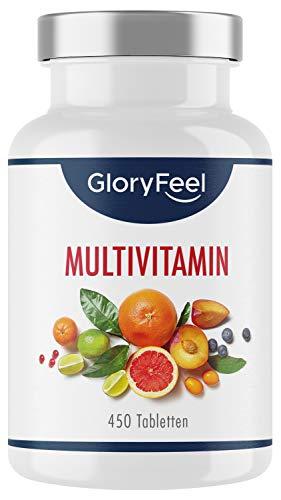 Multivitamin Hochdosiert - 450 Tabletten (15 Monate) -...