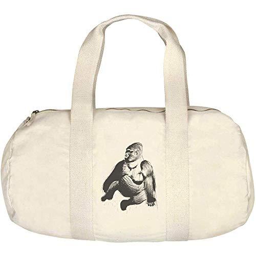 Azeeda 'Sitzender Gorilla' Canvas Duffle / Sporttasche...