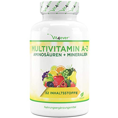 Multivitamin A-Z - 365 Tabletten (12 Monate) - 32 aktive...