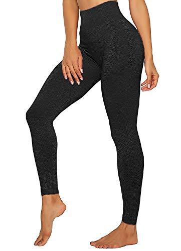 INSTINNCT Damen Yoga Lange Leggings Slim Fit Fitnesshose...