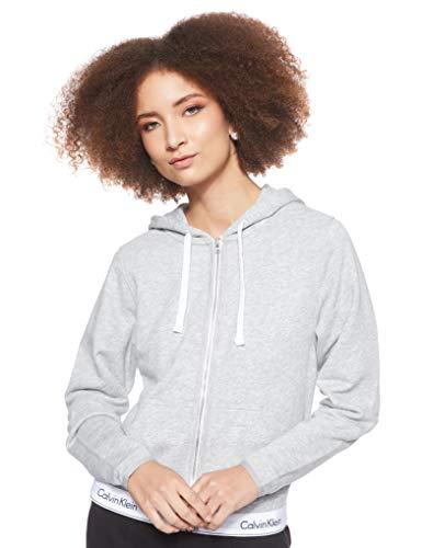 Calvin Klein Damen Top Hoodie Full Zip Kapuzenpullover