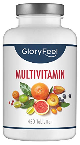 GloryFeel Multivitamin 450 Tabletten Hochdosiert - Der...