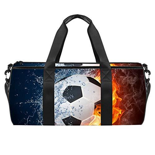 Feuer- und Wasserfußball-Sporttasche, zylindrische...