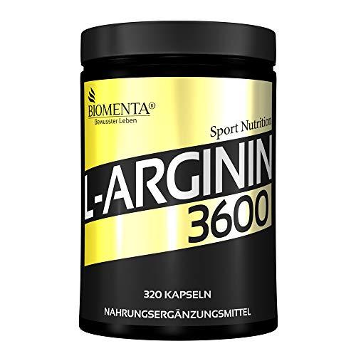 BIOMENTA L-Arginin 3600 – Aktionspreis - 320 L-Arginin...