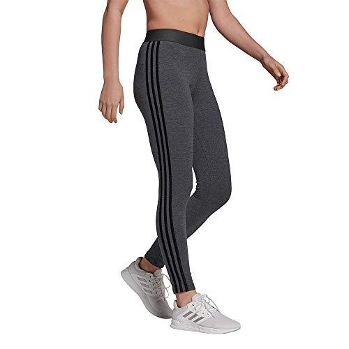 adidas Damen 3-stripes Leggings, Dunkelgrau Heather Schwarz,...