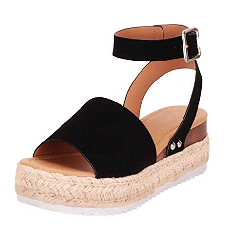 BaZhaHei Frauen Sommer Mode Sandalen Schnalle Retro Peep Toe...