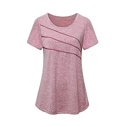Sport T-Shirt Damen Fitness Sommer Rundhals Sportshirt...