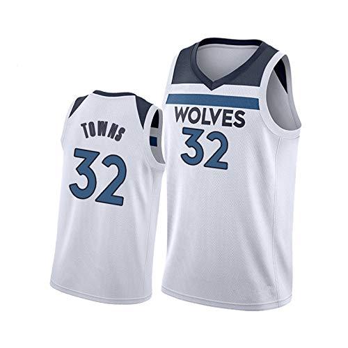 Herren Timberwolves Basketball Jersey, 32# Towns Vest 25#...