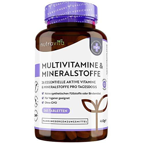 Multivitamine & Mineralien - 365 vegane, hochdosierte...