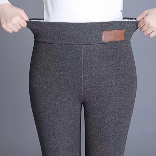 Einteiler Plus Fleece-Leggings,Damen Hosen Normallack Warme...