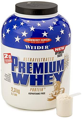 Weider Proteinpulver Premium Whey, Erdbeer - Vanille, 2300 g