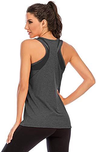 Nekosi Damen Sporttop Yoga Tank Top Oberteil Laufen Fitness...