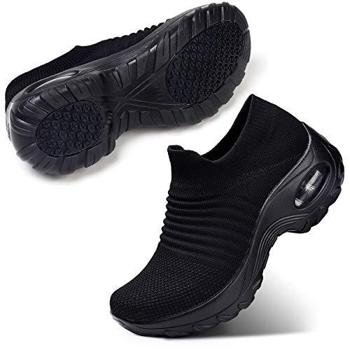 STQ Damen Schuhe Slip On Sneakers Freizeit Atmungsaktive...