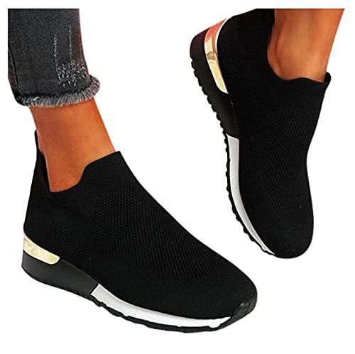 Dasongff Damen Schuhe Slip On Sneakers Freizeit...