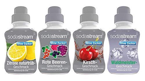 Sodastream 4er Packung Sirup Fruchtschorle ohne Zucker,...