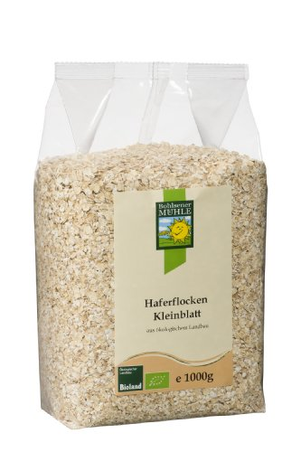 Bohlsener Mühle Bio Haferflocken Kleinblatt, 4er Pack (4 x...