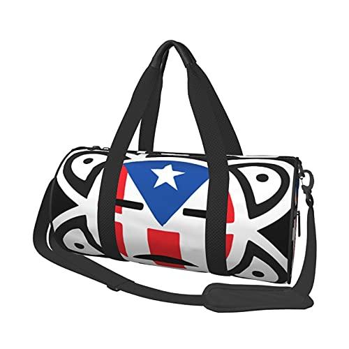 Risating Reise-Sporttasche, Puerto Rico, Flagge, Sonne,...