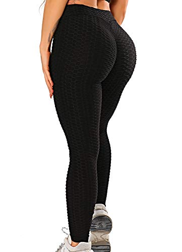 FITTOO Damen Scrunch Butt Leggings Honeycomb Yogahose Booty...