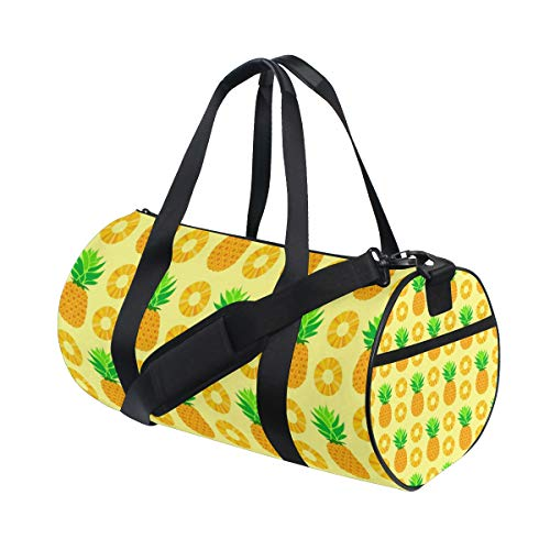 MALPLENA Sporttasche für Damen, mit gelbem Ananas-Muster