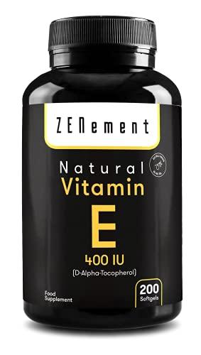 Natürliches Vitamin E - 400 IE (D-Alpha-Tocopherol), 200...