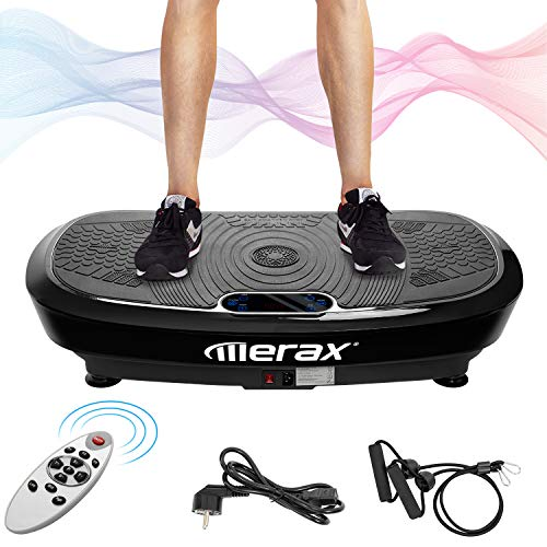 Merax Profi Vibrationsplatte 3D Wipp Vibration Technologie +...