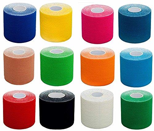 6x PREMIUM Kinesiologie Tape, elastische Bandage / 100%...