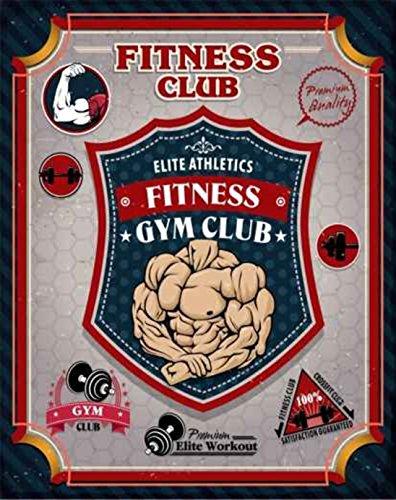 ' Fitness club - Werbeschild ' / Metallschild / Blechschild...