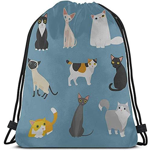 Bouia Schöne, bezaubernde bunte Katzen-Sporttasche aus...