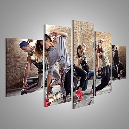 Bild Bilder auf Leinwand Cardio Tanz Fitness Workout Gym...
