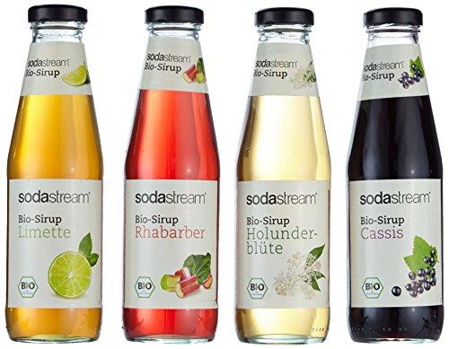 Sodastream 4er Packung Bio - Fruchtsirupe mit Cassis,...