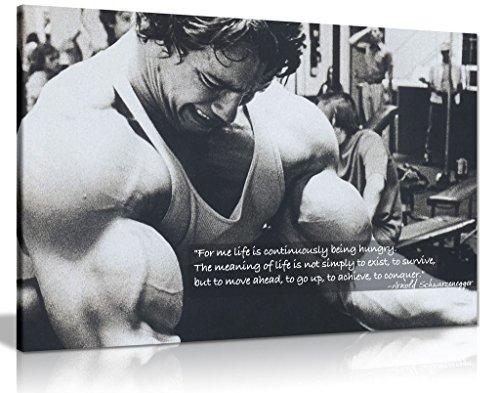 Kunstdruck auf Leinwand, Motiv: Arnold Schwarzenegger...