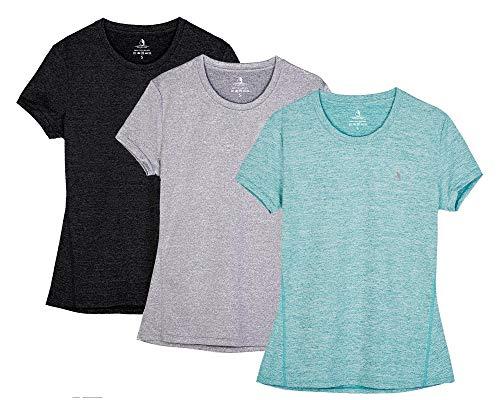 icyzone Sport T-Shirt Damen Kurzarm Laufshirt -...