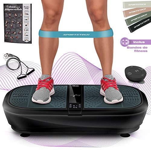 Sportstech 3D Vibrationsplatte VP300   Mega Fett-Verbrenner...