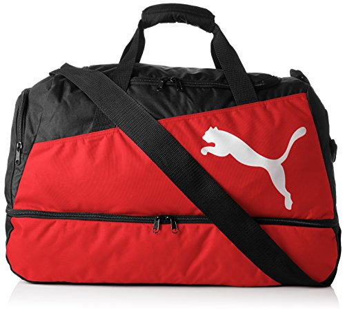 Puma Unisex Fußballtasche Pro Training, black/red/white, 57...