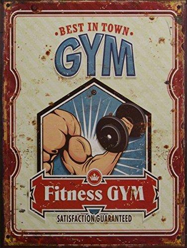Luxus Pur UG Fitness Gym Blechschild Vintage Wanddeko...