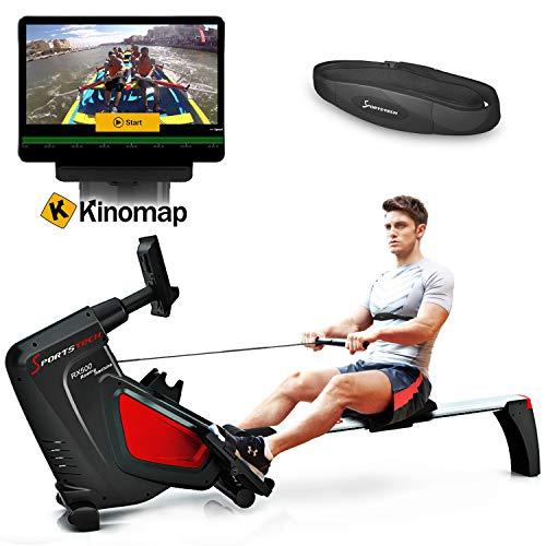 Sportstech Rudergerät RSX500 mit Smartphone steuerbar -...