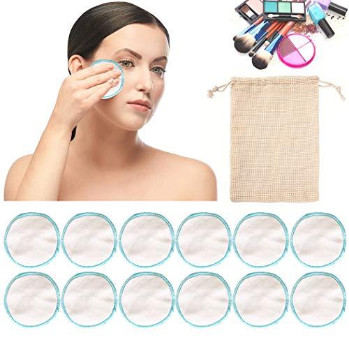 Makeup Wattepads, Bageek 12PCS Makeup Remover Pad...