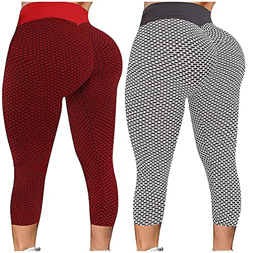 Damen Sport Leggings Po Push Up Anti-Cellulite Yogahosen...