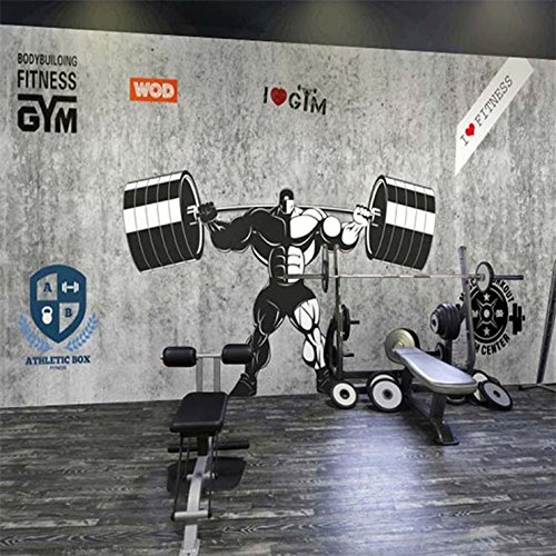 Vlies Tapete Wandbilder 3D Personality Boxing Sports Cement...
