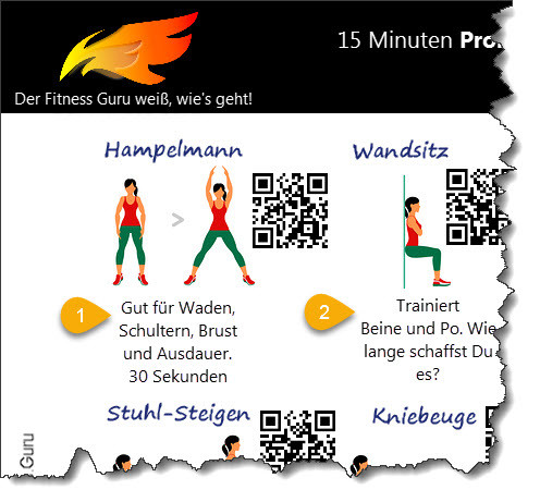 Poster 15 Minuten BBP Workout