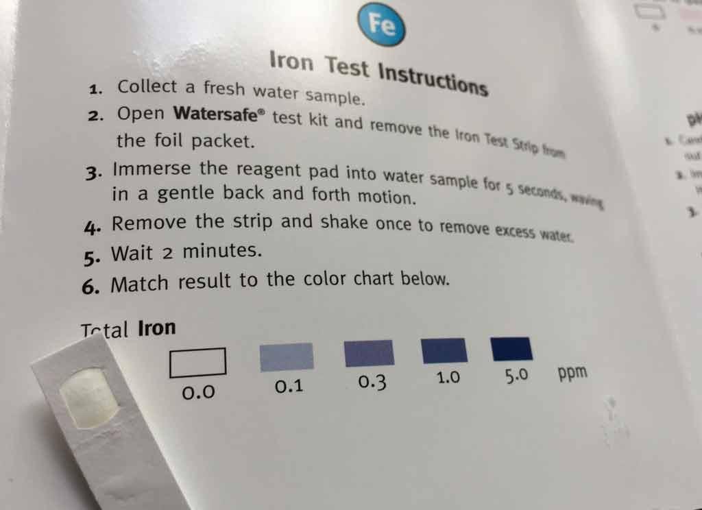 Wassertest Eisen
